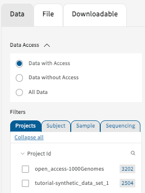 Data with access